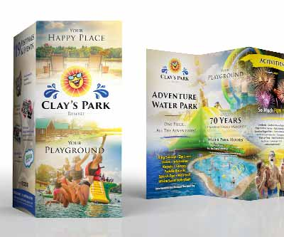 Clay's Park Brochure Design by Snyder Advertising