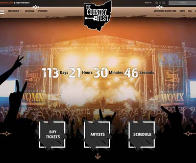 Website Design for The Country Fest by Snyder Advertising