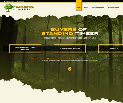 Website Design for Mohawk Lumber by Snyder Advertising - Wooster Ohio