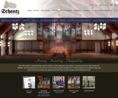 Website Design for Schantz Organ Company