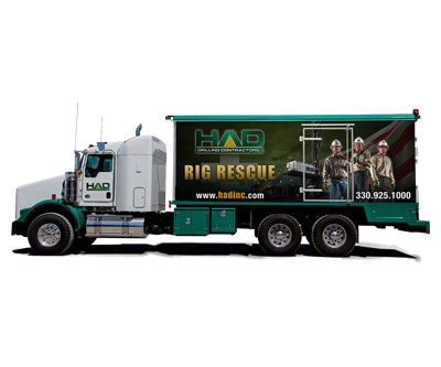 Vehicle Wrap Design for HAD Drilling