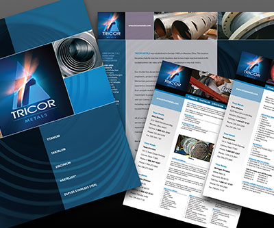 Brochure & Sell Sheet Designs for Tricor Metals