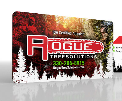 Business Card Design for Rogue Tree Solutions