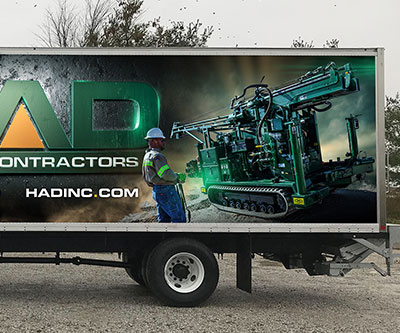 Box Truck Wrap Design for HAD Drilling