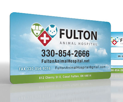 Business Card Design for Fulton Animal Hospital