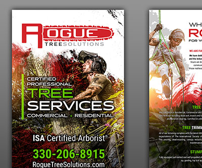 Banner Stand Design for Rogue Tree Solutions