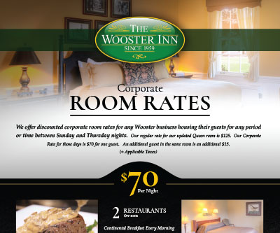 Service Flyer Design for The Wooster Inn