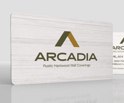 Business Card Design for Arcadia Wall Coverings