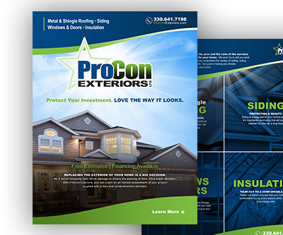 Sell Sheet Design for ProCon Exteriors