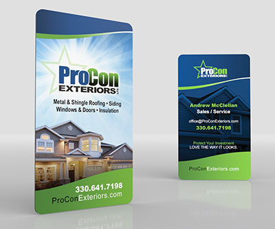 Business Card Design for ProCon Exteriors