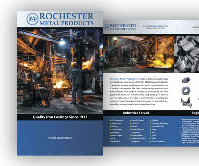 Brochure Design for Rochester Metals