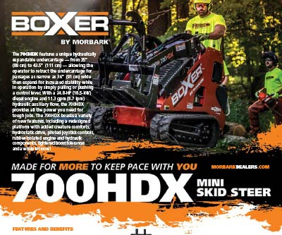 Product Sell Sheet Design for Morbark Boxer 700
