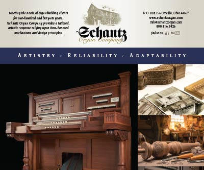 Print Ad Design for Schantz Organ Company