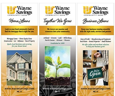 Banner Stand Design for Wayne Savings Community Bank