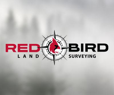 Redbird Land Surveying Logo Design