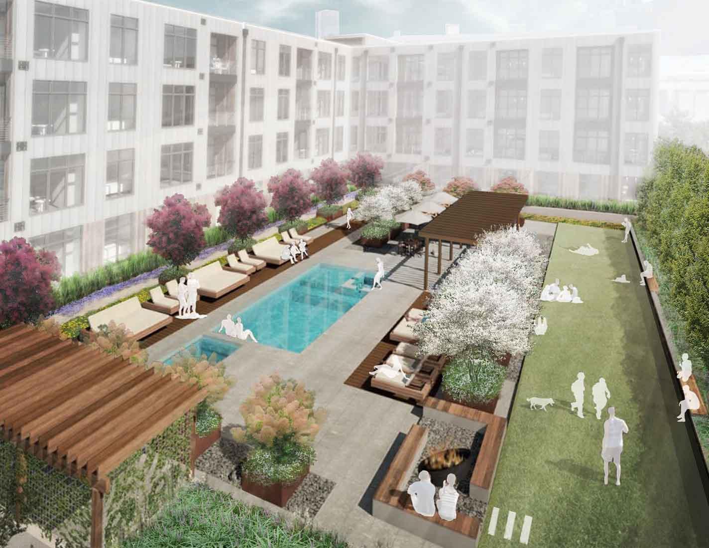 Arbolope Studio | Landscape Architects + Urban Designers | 4101 Laclede Amenity Deck