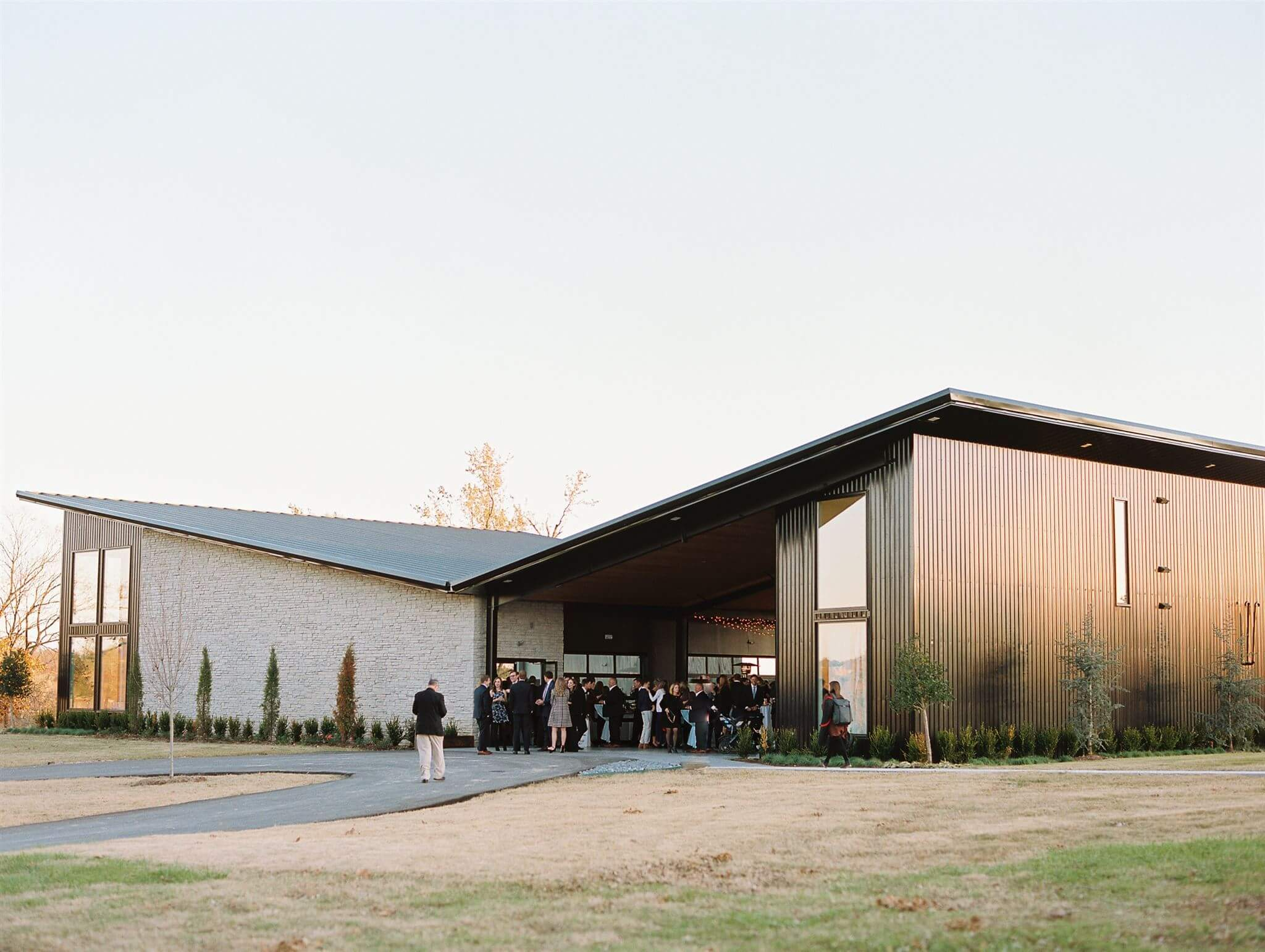 The Reserve building at Osage House Wedding and Event Venue in Northwest Arkansas. Modern and timeless aesthetic.
