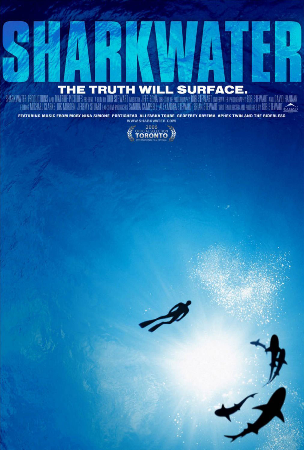 Movie poster for Sharkwater directed by Rob Stewart