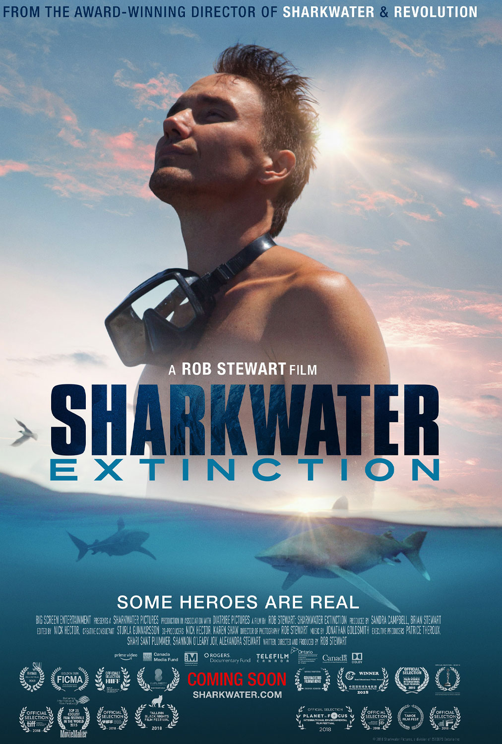 Movie poster for Sharkwater : Extinction directed by Rob Stewart