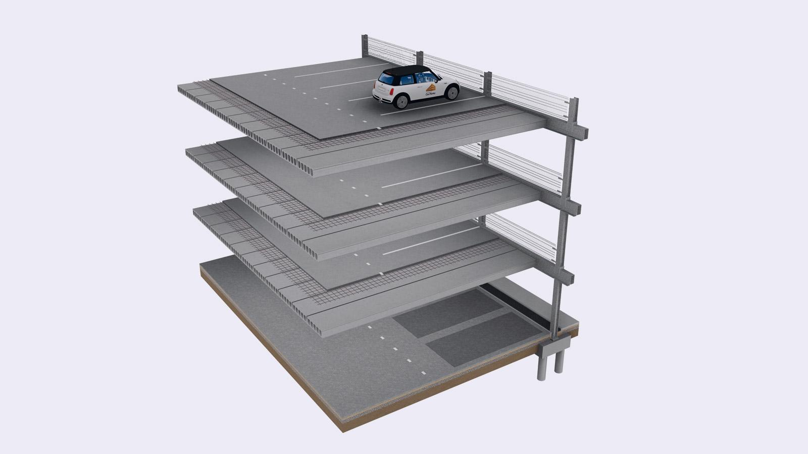 Parkdeck constructie