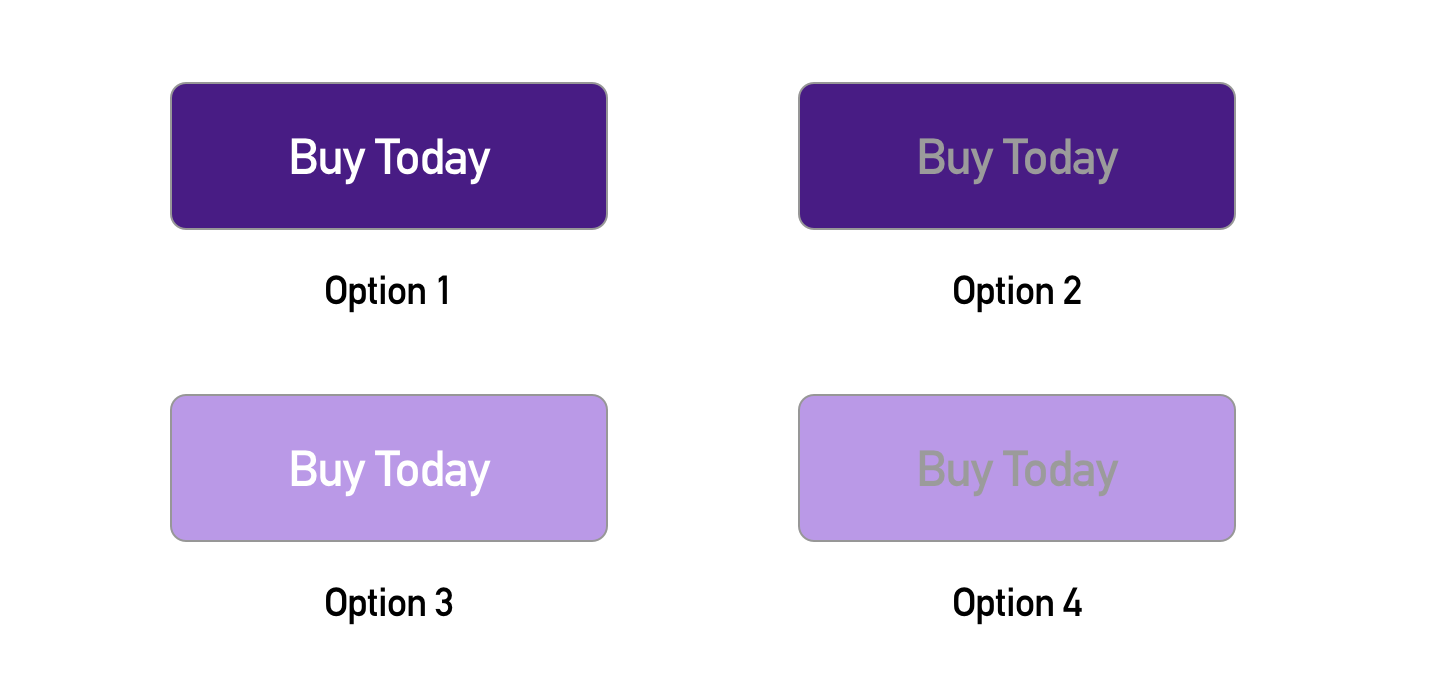 Image showing contrasting colors in a button versus more muted colors in a button
