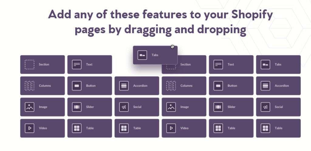 drag and drop shopify theme customization with shogun