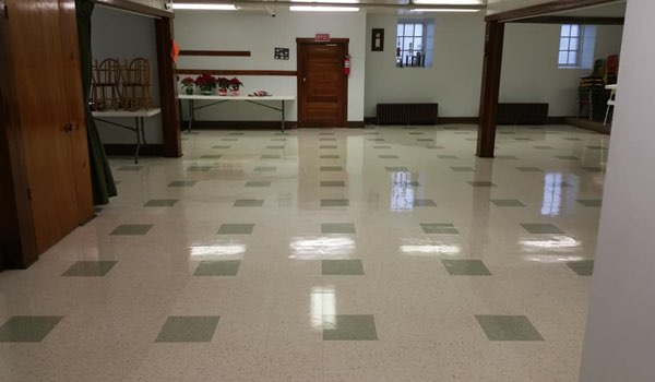commercial vct floor cleaning project