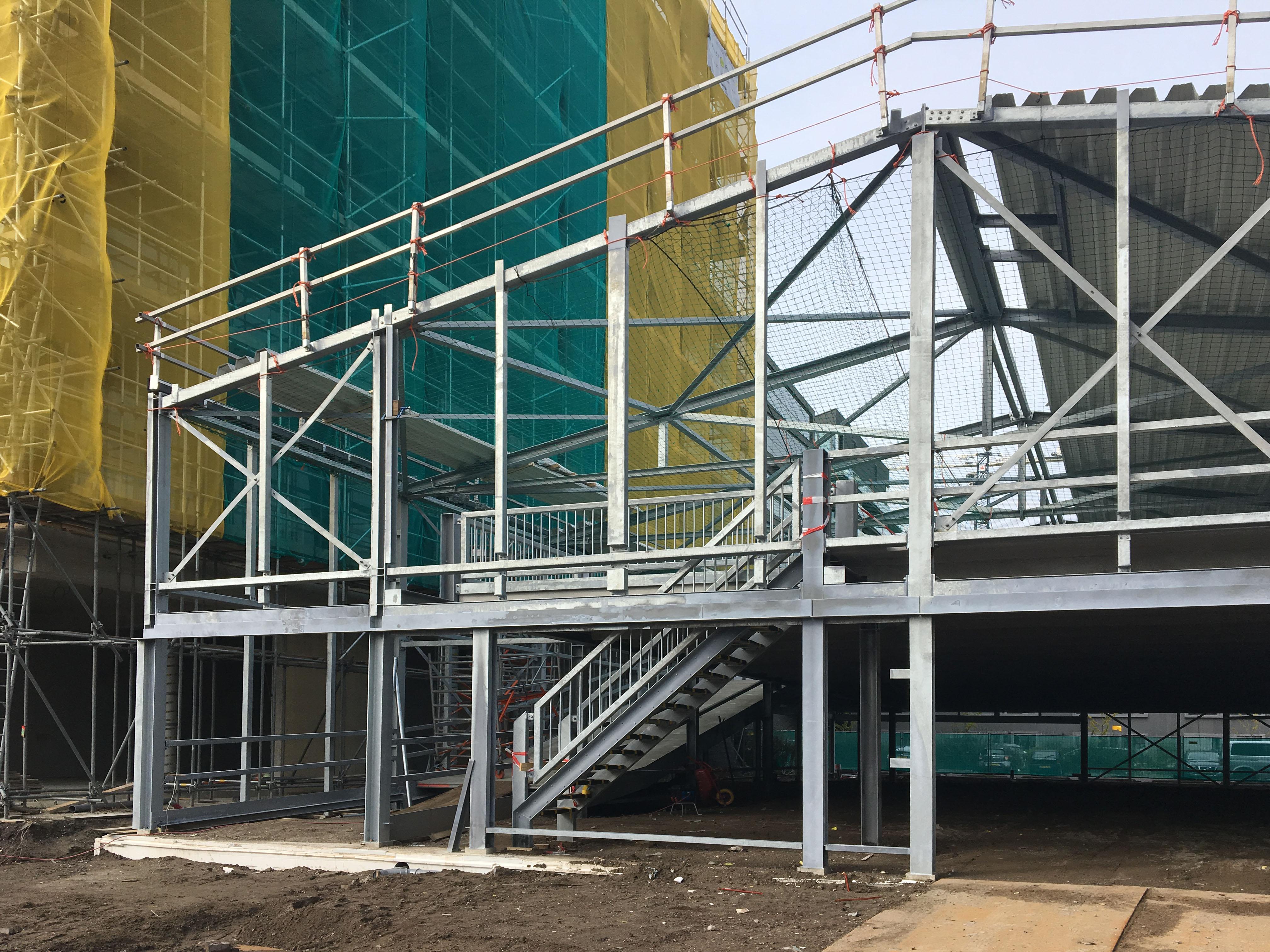 Hoogste punt bouw parkeergarage Top-Up Amsterdam