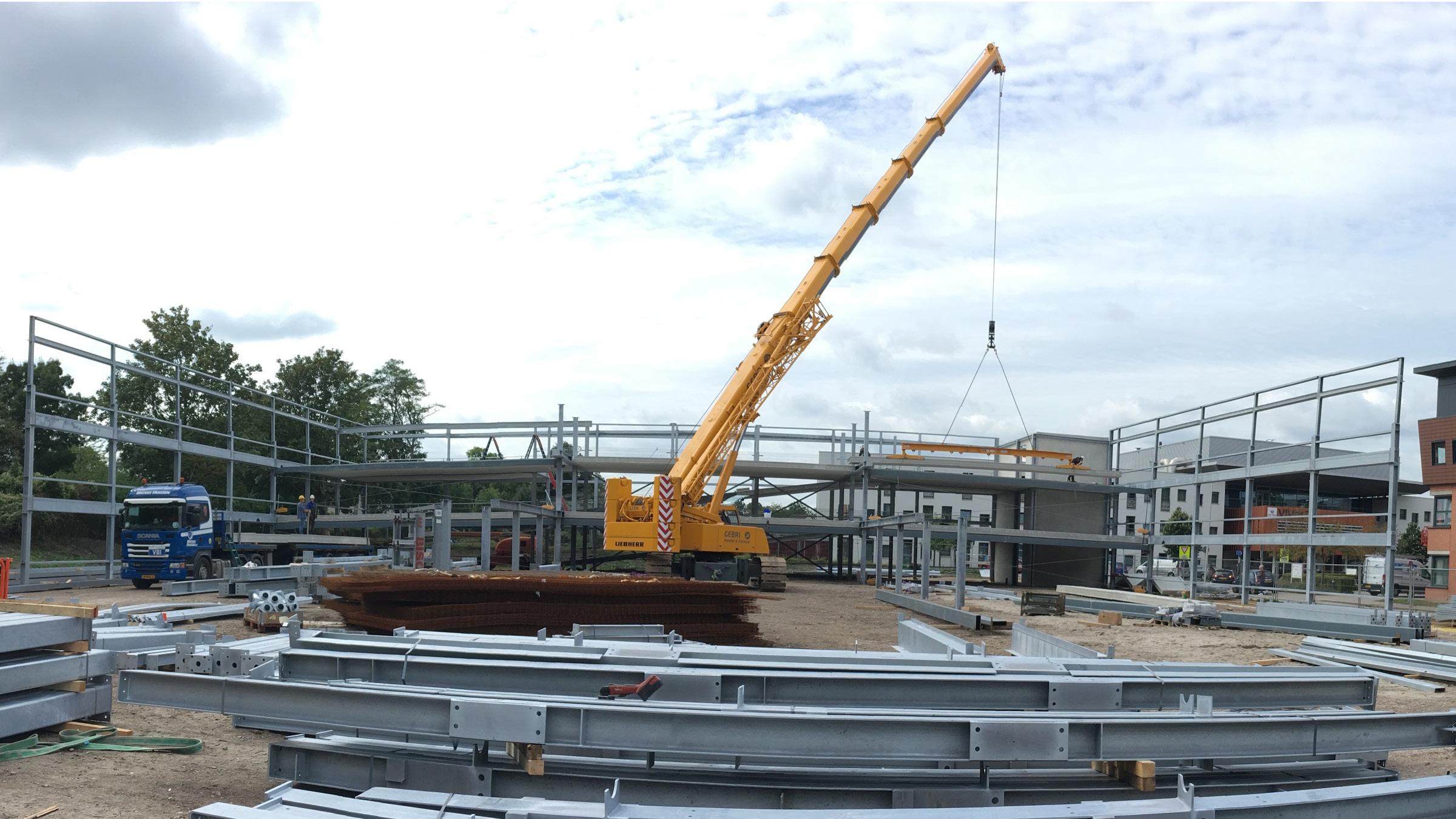 Bouw parkeergarage LangeLand Ziekenhuis Zoetermeer in volle gang