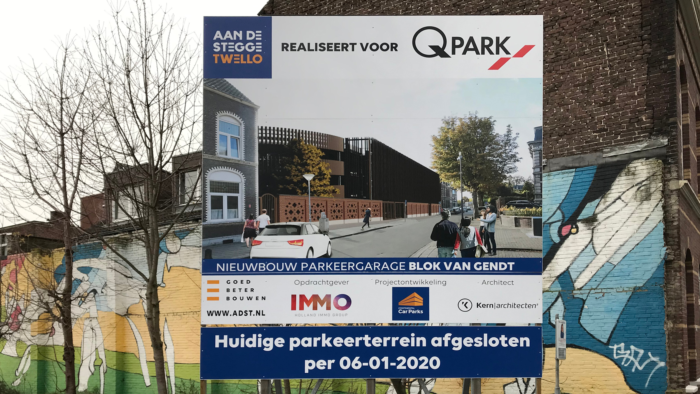 Boorpalen voor parkeergarage Noord-Buitensingel Venlo