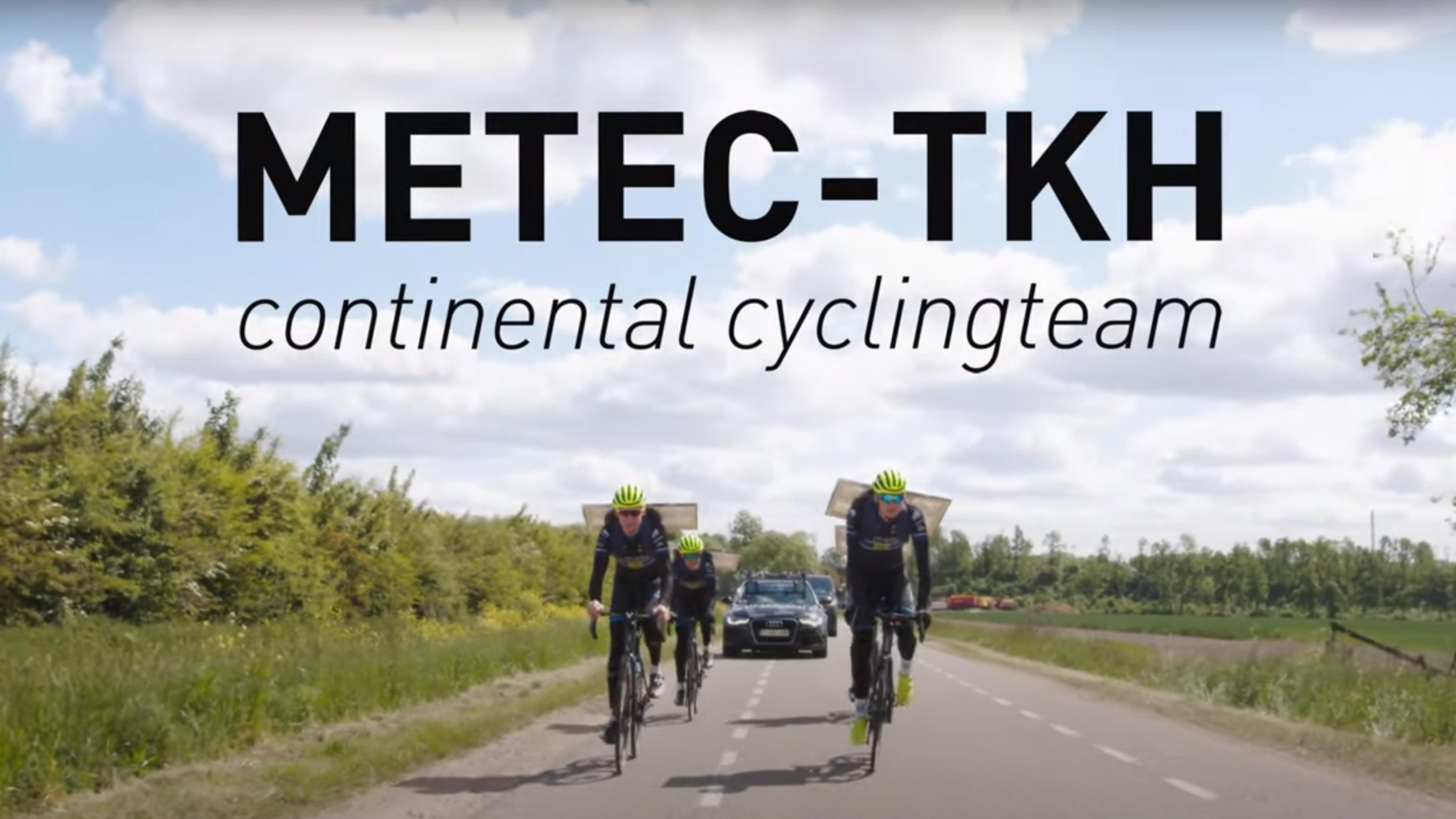 Bedankje voor sponsoring Metec-TKH Continental Cyclingteam