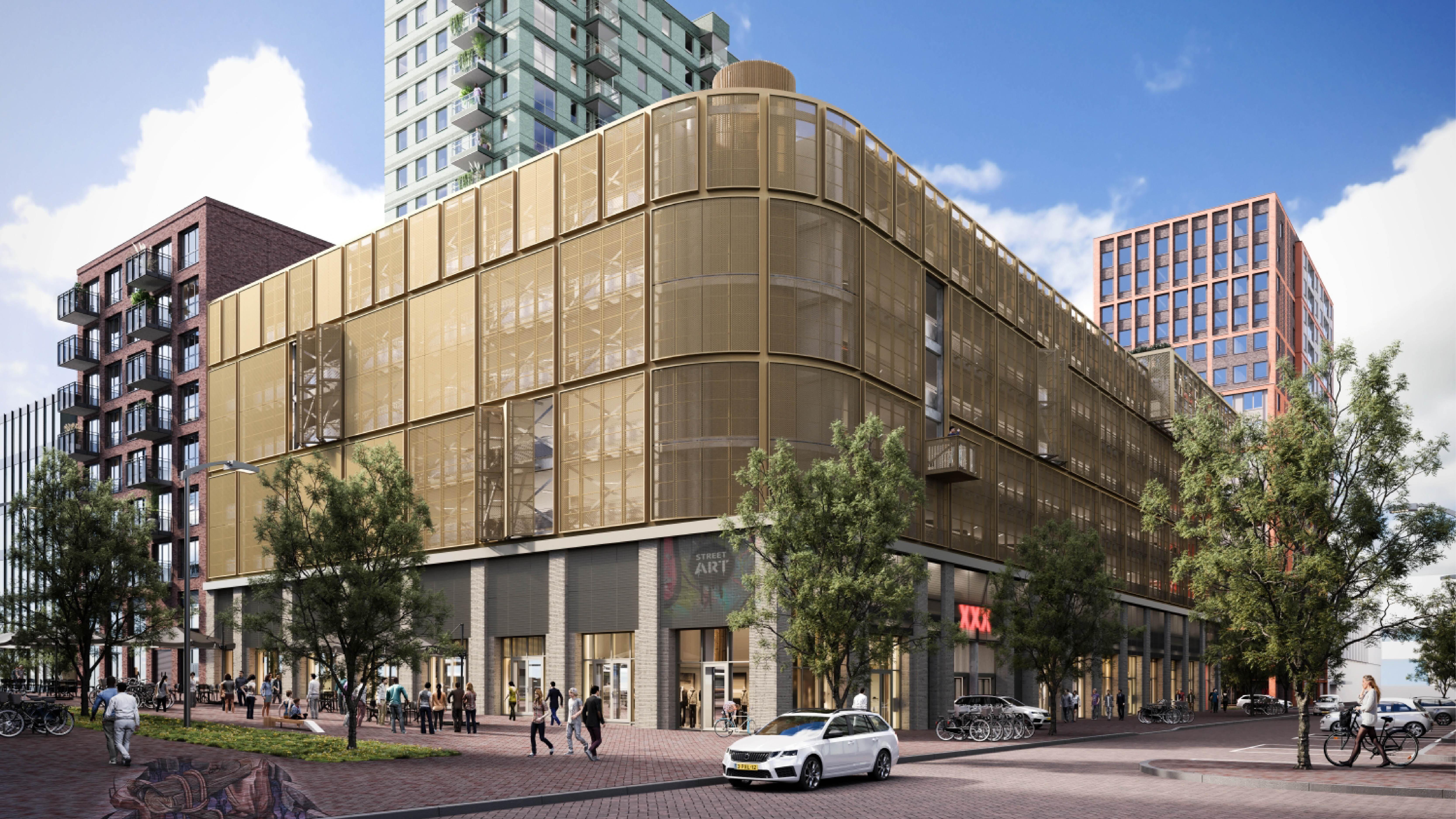 Continental Car Parks realiseert bovengronds parkeergebouw en commerciële ruimten BinnenDok Amsterdam