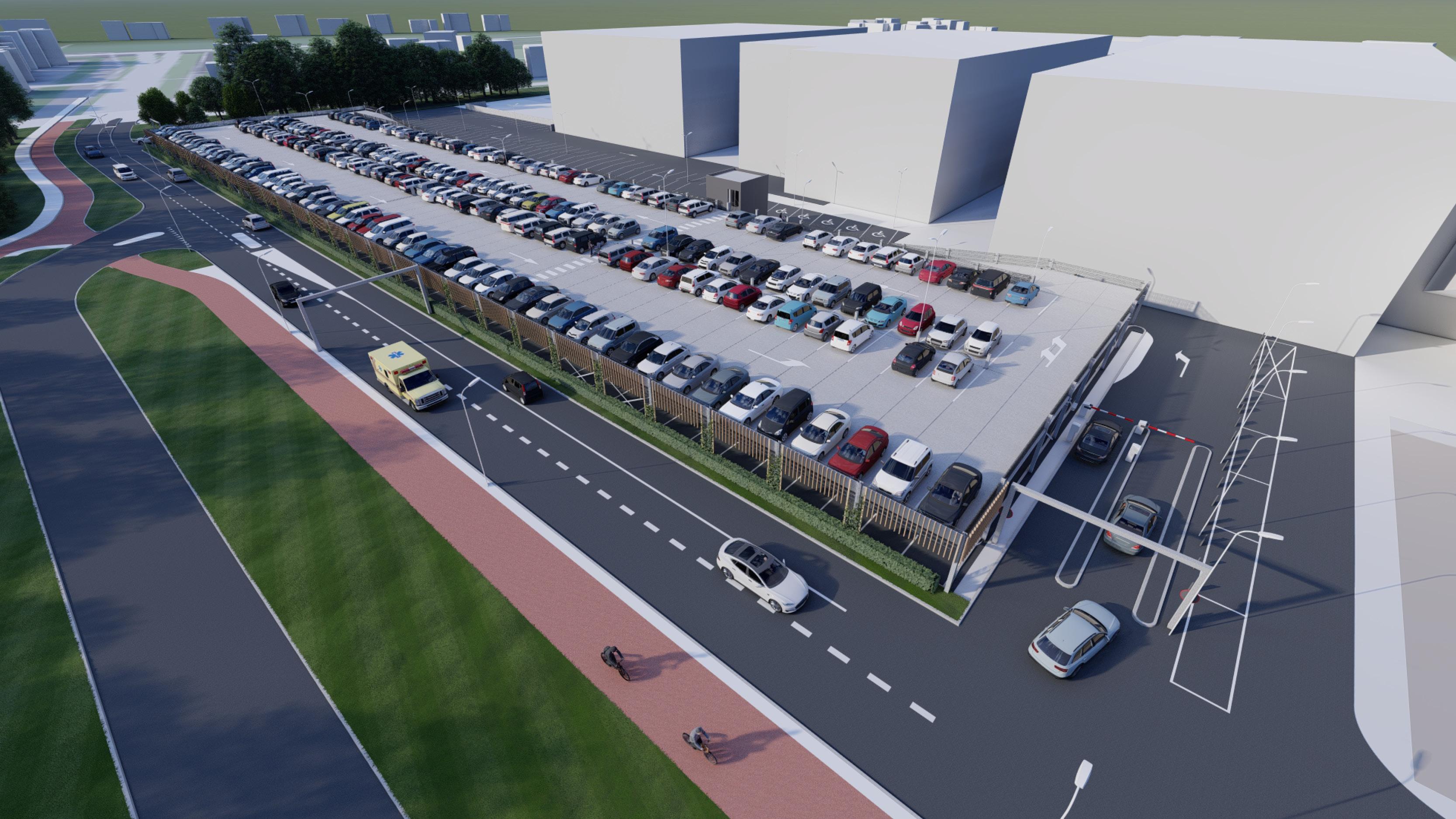 Continental Car Parks realiseert tijdelijk parkeerdek Gelre ziekenhuizen Apeldoorn
