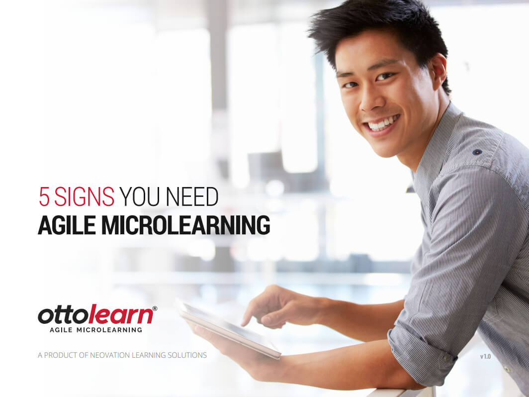 5 Signs You Need Agile Microlearning PDF cover