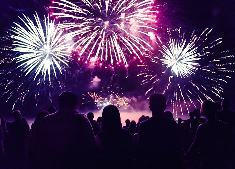 People watching fireworks - OttoLearn Microlearning