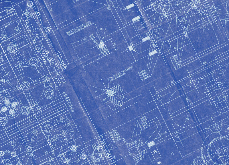 Blueprint for a machine.