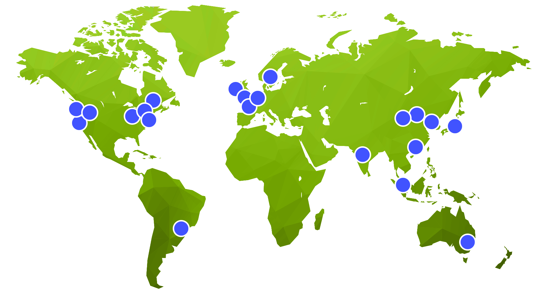 Map showing Amazon's infrastructure locations - Reliable Delivery - OttoLearn Adaptive Learning