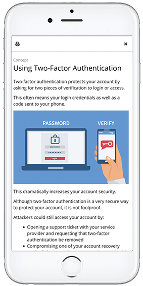 Screenshot of an OttoLearn knowledge card (Online Security) - OttoLearn Adaptive Learning