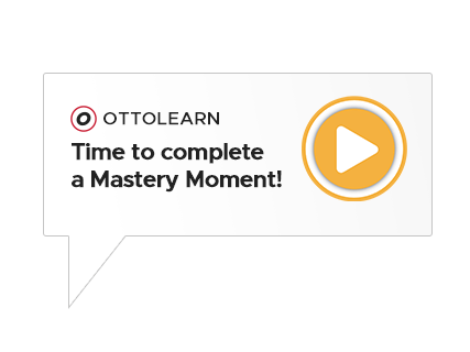 Graphic representation of an OttoLearn engagement popup - OttoLearn Microlearning