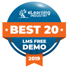 Best 20 - LMS Free Demo 2019 - eLearning Industry award
