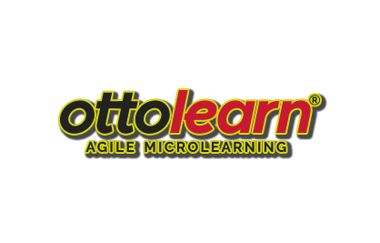 "Example of the OttoLearn logo using a stroke and drop shadow - Logo ""Do Not's"" - OttoLearn Microlearning"