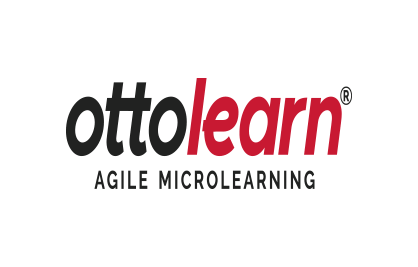 "Example of the OttoLearn logo being distorted - Logo ""Do Not's"" - OttoLearn Microlearning"