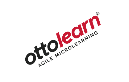 "Example of the OttoLearn logo being rotated - Logo ""Do Not's"" - OttoLearn Microlearning"