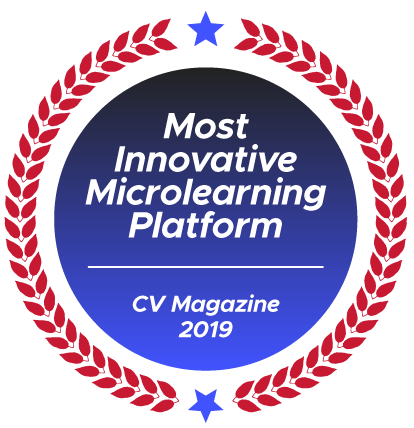 Most Innovative Microlearning Platform - CV Magazine 2019 award