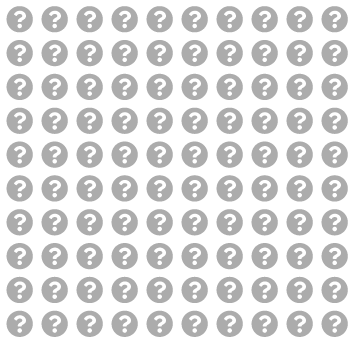 A series of question marks representing a 100-question pool.