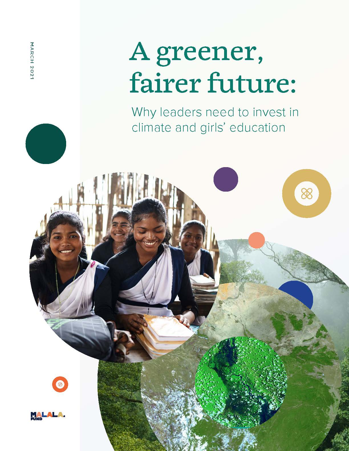 """Malala Fund's climate report called """"A greener, fairer future"""""""