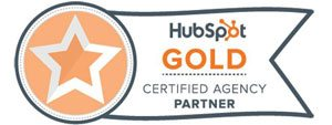 Inbound marketing agency HubSpot gold certificate graphic