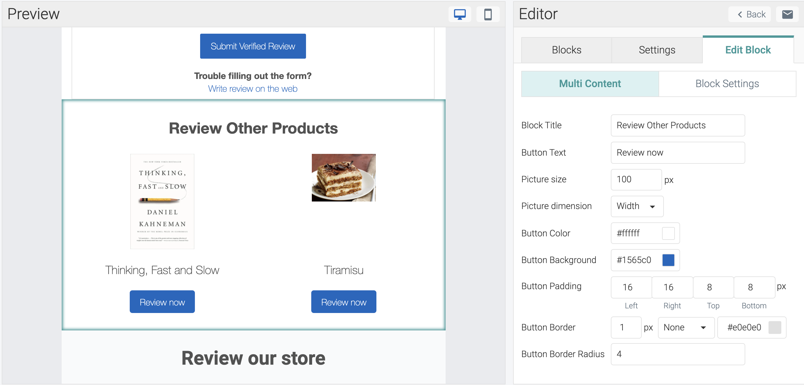 judgeme email templates multi product