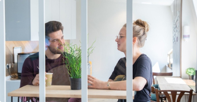 Employees Discussing Ideas