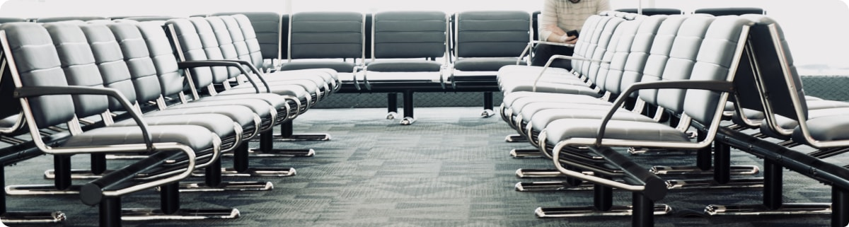 Chairs in Airport Departure Area